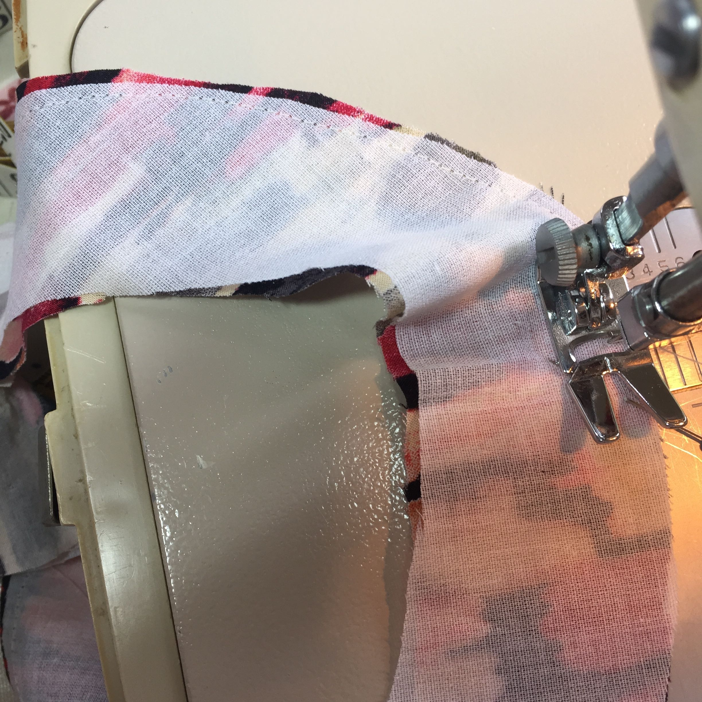 sew around the outside edge of facing right sides together