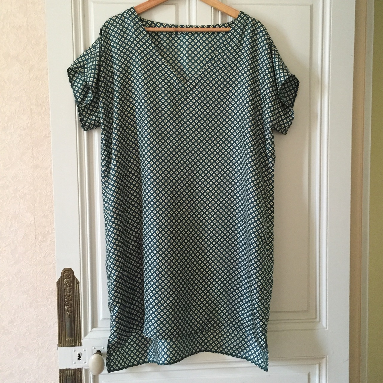 My silk v neck tunic
